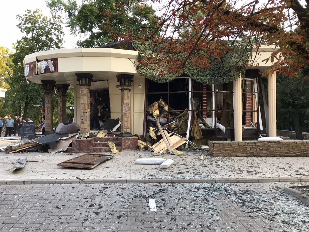 Кафе «Сепар» после взрыва. Фото: РИА Новости