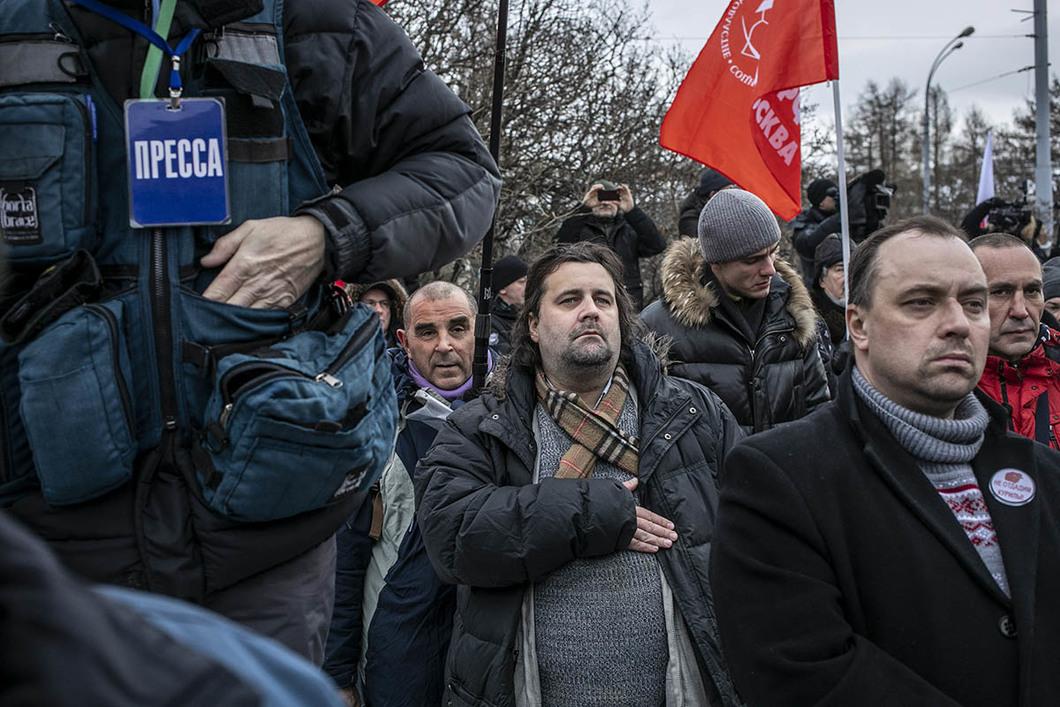 30d35fe3 Участники митинга во время исполнения гимна России. Фото: Влад Докшин /  «Новая газета»