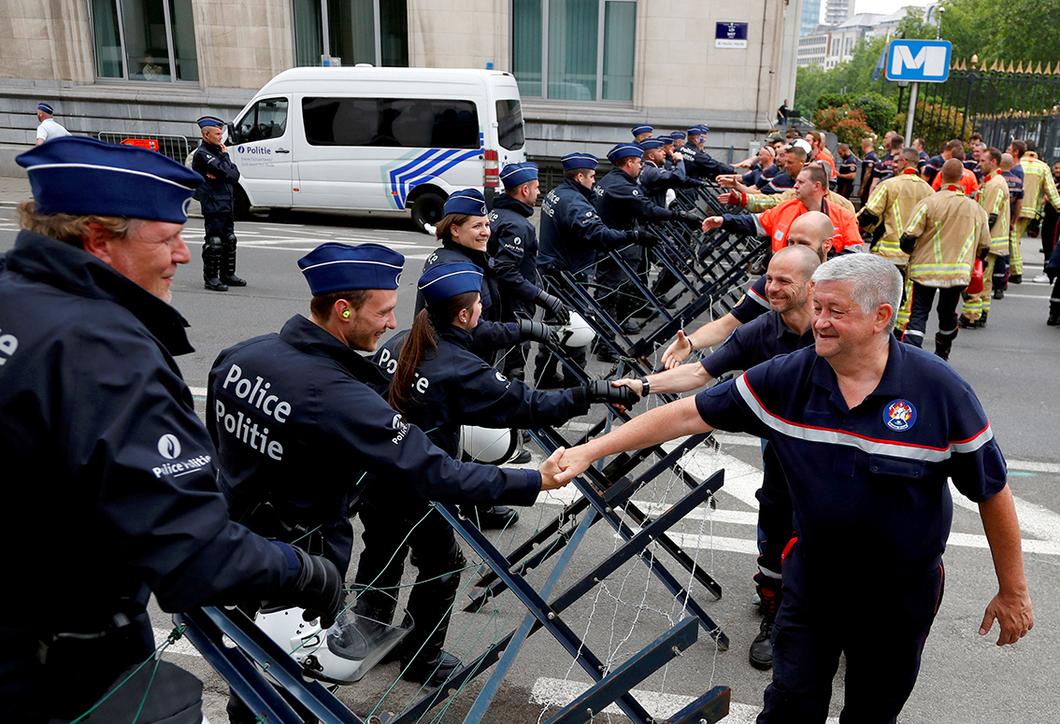 Изучаем европейский опыт: как на самом деле проиходят демонстрации в Брюсселе