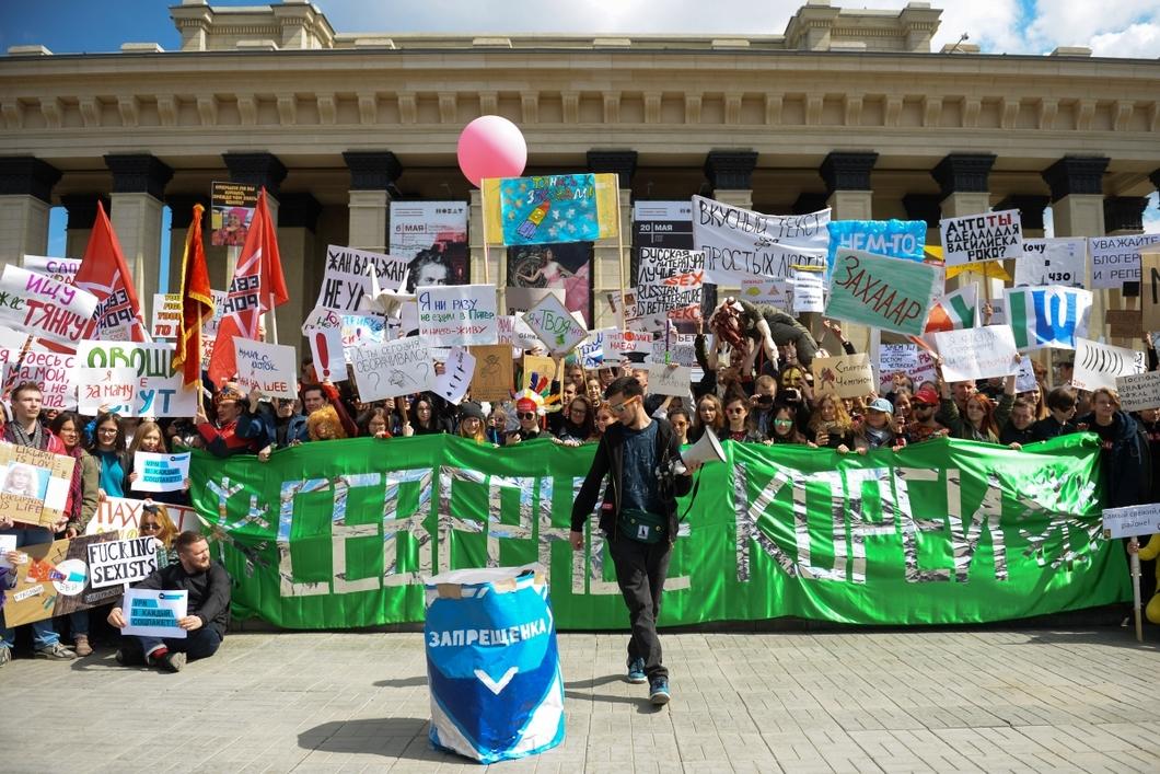 Монстрация в Новосибирске, 2018 год. Артем Лоскутов — на переднем плане. Фото: РИА Новости