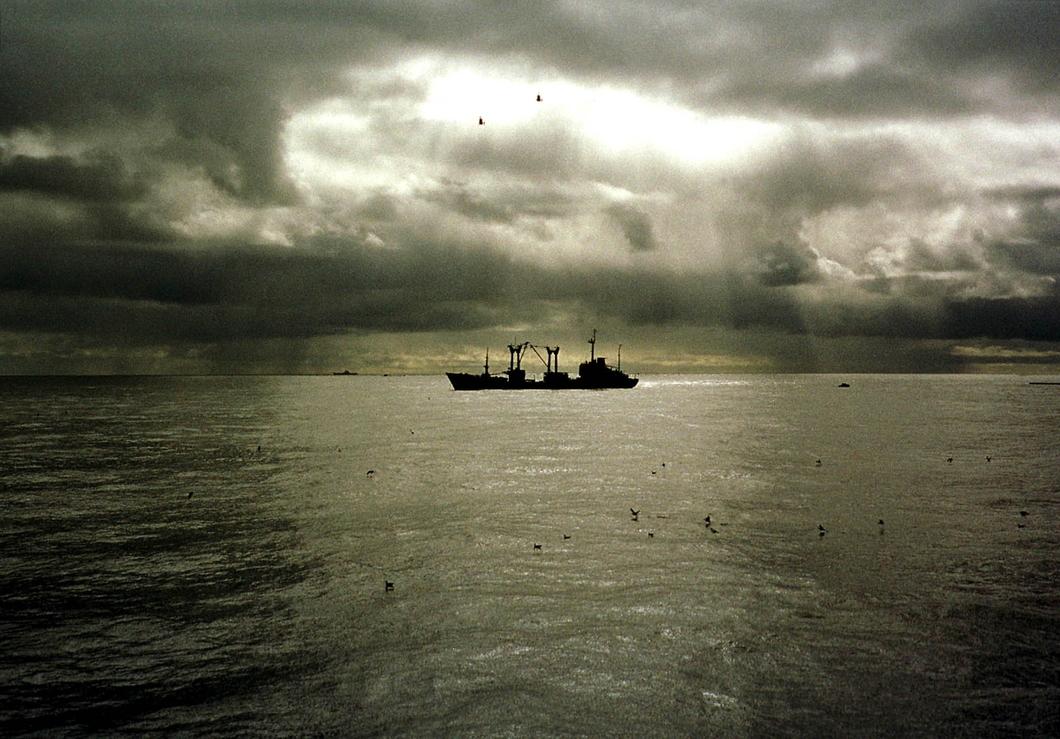 «Михаил Рудницкий» с двумя судами-спасателями на борту. Фото: Reuters