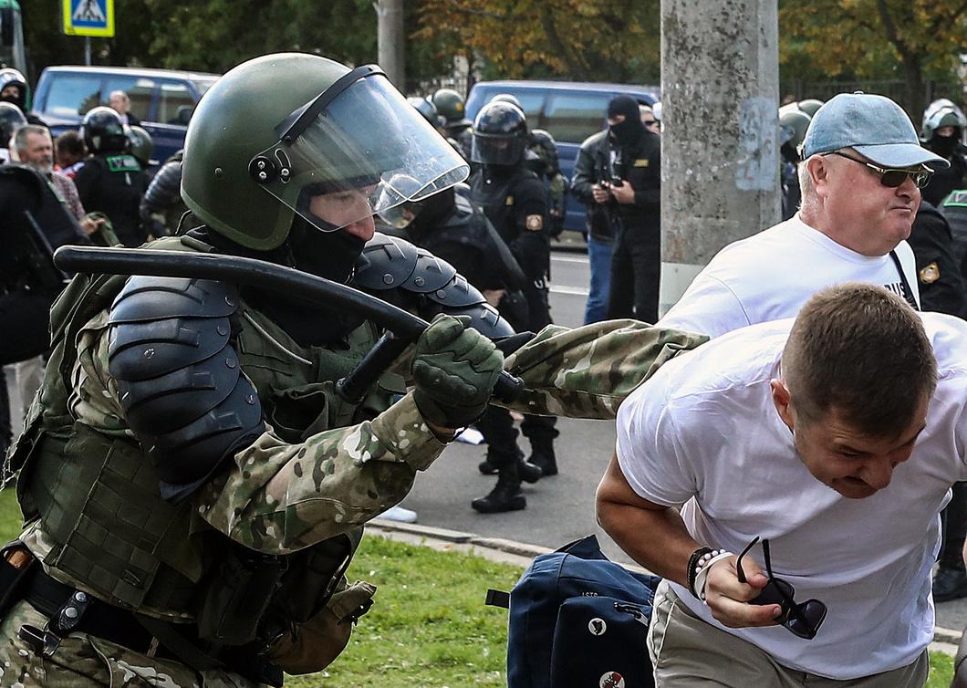 Разгон акции в Минске. Фото: Валерий Шарифулин / ТАСС