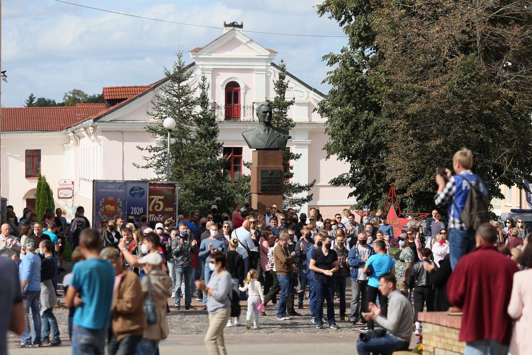 Протесты в Гродно. Фото: для «Новой»