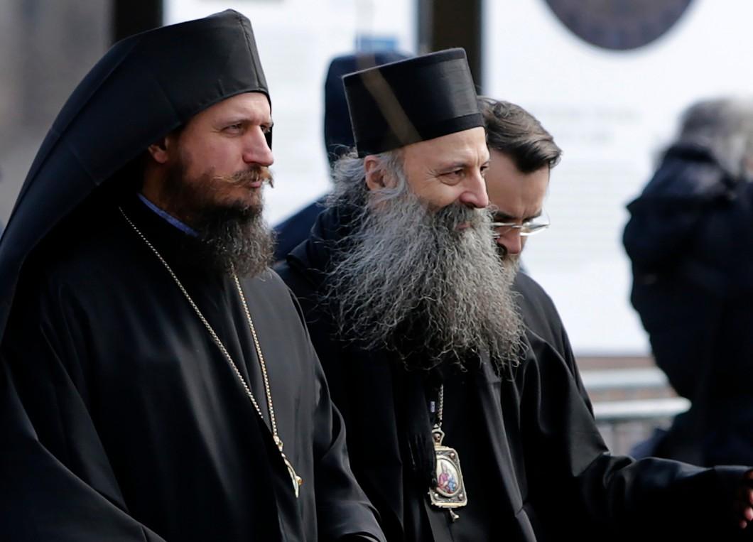 Митрополит Загребско-Люблянский Порфирий (в центре). Фото: AP / TASS