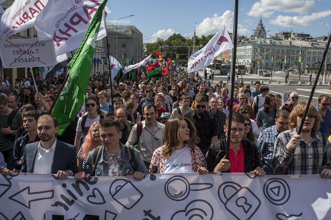 Полиция Москвы насчитала 800 человек на акции «За свободный интернет
